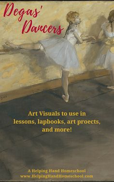 Degas' Dancers - download your free art visuals to learn more about Impressionist Edgar Degas' work! #art #artists #arthistory #impressionist #free