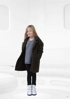 Slouchy wool coat for fall 2014 kidswear by Little Remix