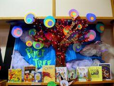 """""""Poet Tree"""" poetry display"""