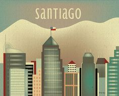 Santiago Chile and Andes skyline by loosepetals