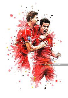 Steven Gerrard & Philippe CoutinhoBuy A3 Art Print