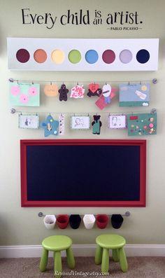 PIZARRA sala de juegos de niños en venta 53 x 29 por RevivedVintage