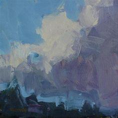 """Coastal Clouds Two"" - Original Fine Art for Sale - © Cathleen Rehfeld"
