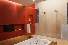 Beth Nejm の カントリーな 洗面所/風呂/トイレ