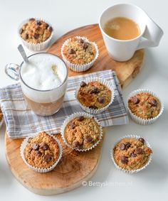 Breakfast Recipes, Snack Recipes, Healthy Recipes, Chocolate Chip Cookies Recept, Pudding Cookies, Healthy Baking, I Foods, Good Food, Brunch