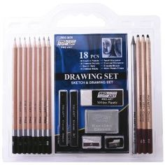 Pro Art 18-Piece Sketch/Draw Pencil Set, Amazon Gold Box Deal through 2/19/2012, (list price: $9.99) Sale Price: $6.35
