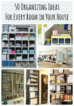 Pinned 130K+ times! 50 Organizing Ideas for Every Room in Your House