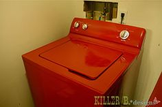 DIY paint your washer and dryer! So gonna do this with my crappy old dryer!
