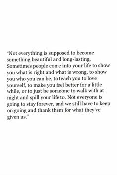 Not forever