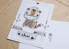 """Postkarte """"Ahoi"""" de HerrPfeffer por DaWanda.com"""