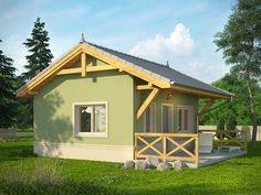 Wizualizacja KR DOMEK 1 CE Tiny House Design, Small House Plans, Home Fashion, Design Your Own, Beautiful Homes, Shed, Floor Plans, Minimalist, Construction