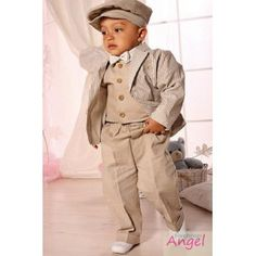 Baby Boy Outfit in Beige
