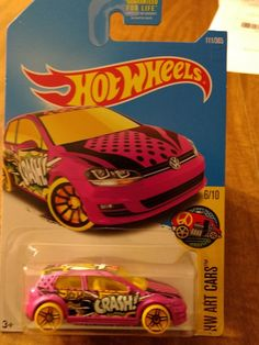 Cool Awesome 2016 hot wheels pink Volkswagen golf mk7 hw art cars 2017-18