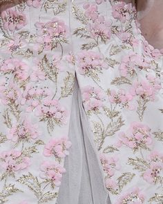 Embroidery detail on a Christian Dior haute couture autumn/winter 2012-2013 dress.