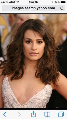 Lea Michelle--shoulder length