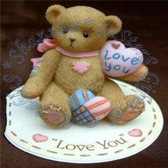 """(Mini) """"Love You"""" Boyds Bears, Teddy Bears, Clay Bear, Kimberly Ann, Bear Valentines, Bear Photos, Ark, Biscuit, Resin"""