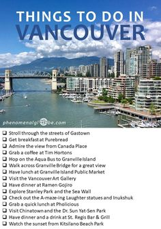 Explore beautiful British Columbia in 10 days Things to do in Vancouver, British Columbia, Canada. The ultimate city trip guide to Vancouver, including top things to see and do, where to eat and where to stay! Vancouver Vacation, Vancouver Travel, Vancouver British Columbia, Victoria British Columbia, Victoria Bc Canada, Vancouver Island, Vancouver City, Granville Island Vancouver, Vancouver Chinatown