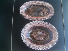 For sale at Retrophoria.com, $39.99 - Miss America Depression Glass Set Of Two Oval Bowls