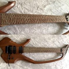 Microtonal Utonal guitar by Ron Sword