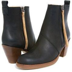 Acne Pistol short boots - black contrast.