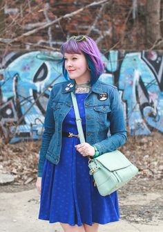 what I wore : fifty shades of blue
