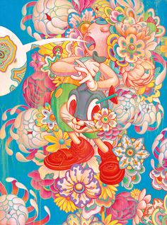 Expanding upon Murakami and Juxtapoz magazine's interest in flattening high and low cultures, this exhibition includes work by artists whose practice has been shaped by a variety of sub-cultures including skate, surf, graffiti, street art, comics, design, illustration, painting, and digital and traditional arts.