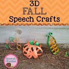 Fall 3D Speech Therapy Crafts for articulation and language