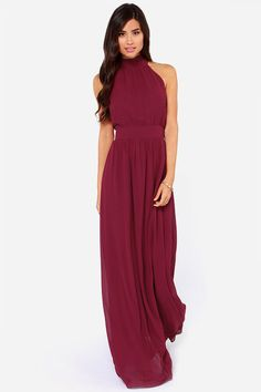 LULUS Exclusive Modern Duchess Burgundy Maxi Dress at Lulus.com!