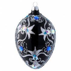 Christmas Bulbs, Holiday Decor, Crafts, Christmas Balls, Christmas Ornaments, Egg, Silver, Black, Manualidades