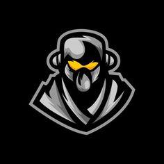 Ninja E Sports Logo Gaming Mascot Team Mascots, Logo Design, Graphic Design, Sports Logo, Superhero Logos, Ninja, Plane, Prints, Gaming