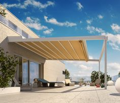 Met de nieuwe STOBAG pergolazonwering RIVERA P5000 creëert u op elk terras een royale bewegingsruimte met een elegante vormgeving. De vouwzonwering zorgt voor schaduwrijke koelte op momenten dat de zon schijnt en beschermt tegen schadelijke UV-straling. Als het regent, leidt het strak gespannen RESISTANT-doek het water gecontroleerd naar het afvoersysteem aan de voorzijde.