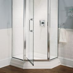 Shower Bases - Town Square 38 Inch by 38 Inch Neo Angle Shower Base - White