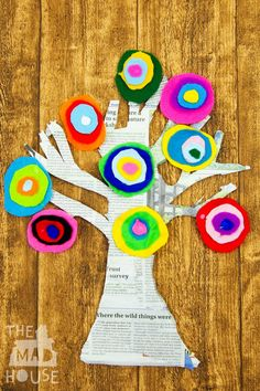 Kandinsky Inspired Tree made with Felt Scraps