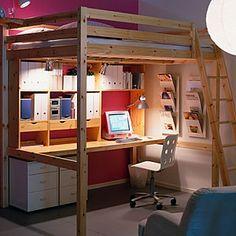 ikea double loft bed - Google Search