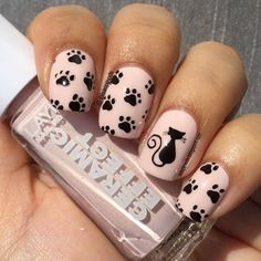 cat nail art designs kitty ~ cat nail art - cat nail art easy - cat nail art designs - cat nail art cute - cat nail art halloween - cat nail art step by step - cat nail art designs kitty Cat Nail Art, Animal Nail Art, Cat Nails, Pink Nails, Cat Nail Designs, Unicorn Nails Designs, Nails For Kids, Nail Art Hacks, Stylish Nails