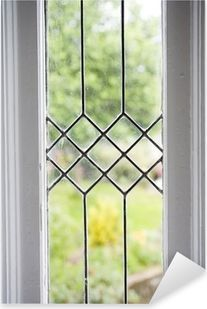 Stock Photo Of A Leaded Glass Window Sticker Pixers We Live To Change In 2020 Leaded Glass Door Leaded Glass Leaded Glass Windows
