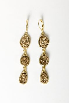 Golden dangle earrings #WSUGoldenGala #WayneStateGoldenGala