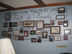 Mom's wall of fame :)  I would love this in my Living Room...whatcha think???