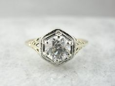 Exceptionally Fine European Cut Diamond in an by MSJewelers