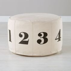 Numbers Pouf (Natura