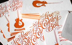 Low Country Boil / business cards by HOOK. via FPO #letterpress