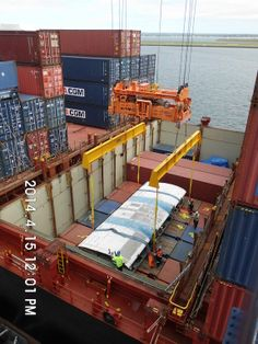 Centre wing in container vessel, Sydney International Container Terminal.
