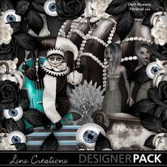 Darkillusions10 Digital Scrapbooking, Illusions, Paint Shop, Photoshop Elements, Holidays Halloween, Photo Book, Entertainment, Design Elements, Fantasy