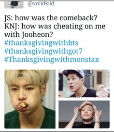 #ThanksGivingWithBTS #ThanksGivingWithGOT7 #ThanksGivingWithMonstaX