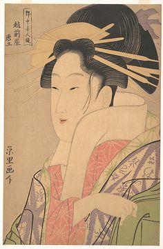 Karatsuchi of the Echizenya Rekisentei Eiri (Japanese, active ca. 1789–1801) Period: Edo period (1615–1868) Date: ca. 1795 Culture: Japan Medium: Polychrome woodblock print; ink and color on paper