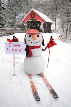 New Hampshire Christmas Snowman