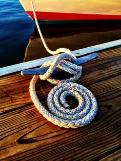 eastcoastsailor: boat cleat & rope    Spiral #2