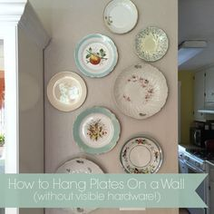 How to Hang Plates Without Visible Hardware | Simply Mrs. Edwards