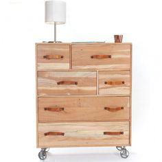 commode 4 tiroirs en acacia info dim niche h 15 x l 85. Black Bedroom Furniture Sets. Home Design Ideas