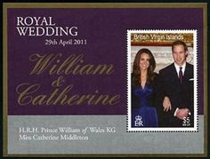 Stamp: Souvenir Sheet, Royal Wedding (British Indian Ocean Territory) (Wedding of Prince William and Catherine Middleton) Mi:IO British Indian Ocean Territory, Prince William And Catherine, British Virgin Islands, Stamp Collecting, Wedding Couples, Wedding Portraits, Colonial, Postcards, Coins